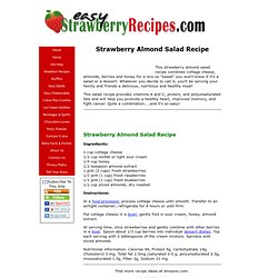 Strawberry Almond Salad Recipe