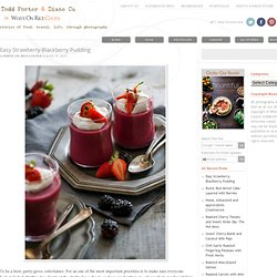 Easy Strawberry Pudding with Blackberries Easy No Bake Fruit Dessert