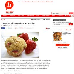 Strawberry Browned Butter Muffins