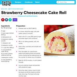 Strawberry Cheesecake Cake Roll Recipe by Tasty