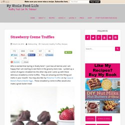 Strawberry Creme Truffles