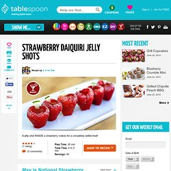 Strawberry Daiquiri Jelly Shots recipe