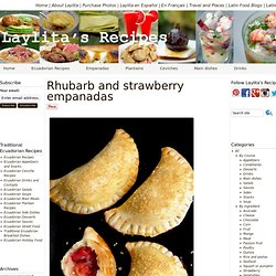 Rhubarb and strawberry empanada recipe