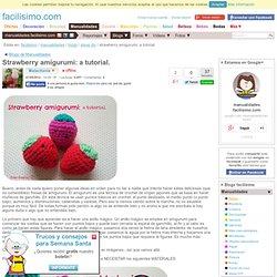 Strawberry amigurumi: a tutorial.