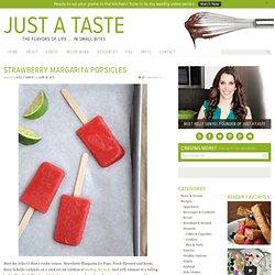 Strawberry Margarita Ice Pops