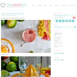 Fresh Strawberry Margarita Recipe