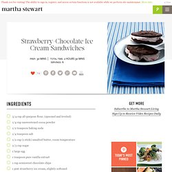 Strawberry-Chocolate Ice Cream Sandwiches