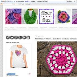 Free Crochet Pattern...Strawberry Shortcake Dishcloth