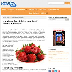 Strawberry Smoothies Recipes