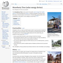 Strawberry Tree (solar energy device)