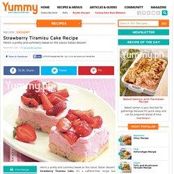 Strawberry Tiramisu Cake Recipe