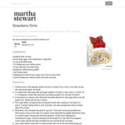 Strawberry Torte - StumbleUpon