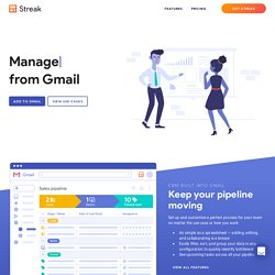 Streak - CRM in your Inbox