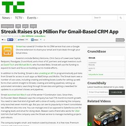 Streak Raises $1.9 Million For Gmail-Based CRM App