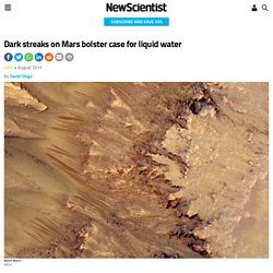 Dark streaks on Mars bolster case for liquid water - space - 04 August 2011