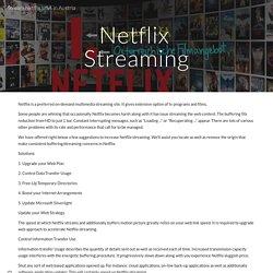 Stream Netflix USA in Austria