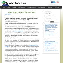 2017 - Appalachian Voices - Stream Protection Rule