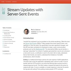 Stream Updates with Server-Sent Events - HTML5 Rocks