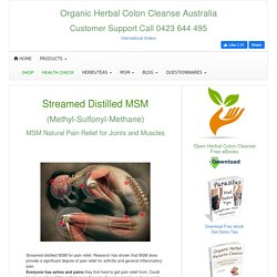 Streamed Distilled MSM For Pain Relief $80.00 Kg