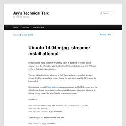 Ubuntu 14.04 mjpg_streamer install attempt