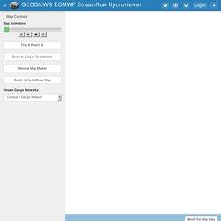 Tethys Portal GEOGloWS ECMWF Streamflow Hydroviewer