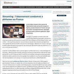 Streaming : l'abonnement condamné à plafonner en France