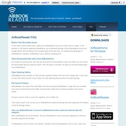 Streaming eBook Reader, AirBookReader. Connect to your Home PC and Read All! - FAQ