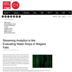 Streaming Analytics is like Evaluating Water Drops in Niagara Falls