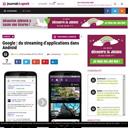 Google : du streaming d'applications dans Android
