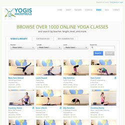 Yogis Anonymous | Online Yoga Videos, Live-Streaming and Yoga On Demand
