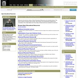 Download & Streaming : Open Educational Resources : Internet Archive