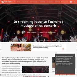 Le streaming favorise l'achat de musique et les concerts
