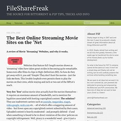 The Best Online Streaming Movie Sites on the 'Net