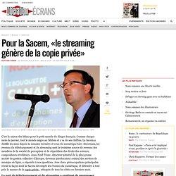 Pour la Sacem, « le streaming génère de la copie privée »