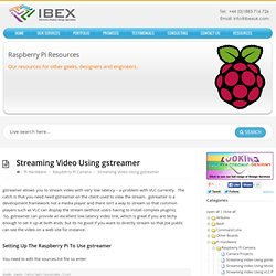Streaming Video Using gstreamer – Raspberry Pi Projects