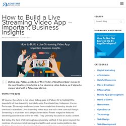 How to Build a Live Streaming Video App - Important Business Insights