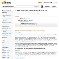 Node.js Streaming MapReduce with Amazon EMR : Articles & Tutorials