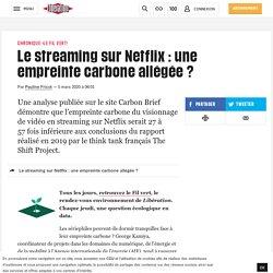 Le streaming sur Netflix : une empreinte carbone allégée?