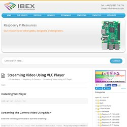 Streaming Video Using VLC Player – Raspberry Pi Projects