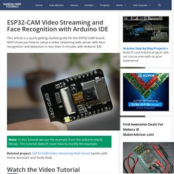 ESP32-CAM Video Streaming and Face Recognition with Arduino IDE