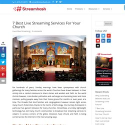 7 Best Live Streaming Services For Your Church
