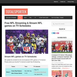 Free NFL Streaming