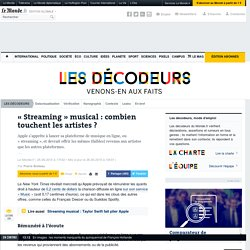 « Streaming » musical : combien touchent les artistes ?