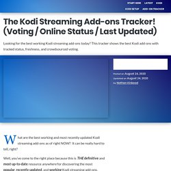 The Best Kodi Streaming Add-ons in Real-Time! June 28, 2019