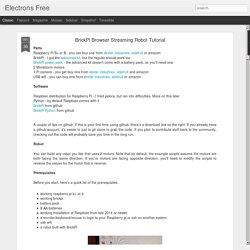 BrickPi Browser Streaming Robot Tutorial