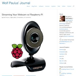 Streaming Your Webcam w/ Raspberry Pi