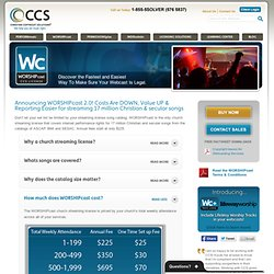 WORSHIPcast | Christian Copyright Solutions