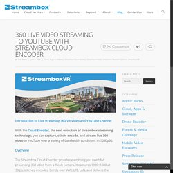 360 LIVE VIDEO STREAMING TO YOUTUBE WITH STREAMBOX CLOUD ENCODER - Streambox Inc