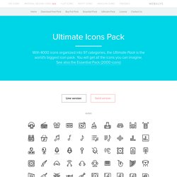Streamline Ultimate Pack: 4000 Vector Icons for iOS, Android, websites and applications