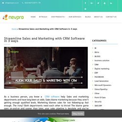 Streamline Your Business in 3 Simple Ways using CRM software